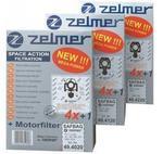 """Opinie o Zelmer Zestaw worków SAFBAG 4+1 ZVCA100B/A494020.00 """"niebieski"""""""