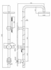 Zucchetti Isyshower Zestaw prysznicowy stal szczotkowana ZD1055.C3