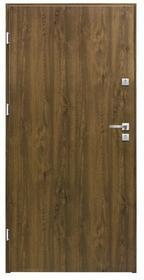 Splendoor Drzwi zewnętrzne stalowe  Basic 80 lewe orzech
