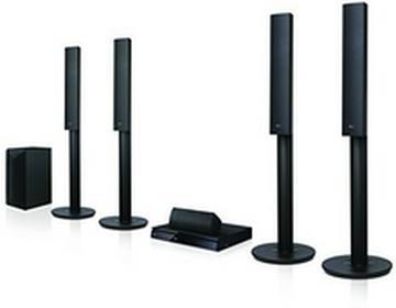 LG Electronics LG LHA755W 5.13d Blu-ray System kina domowego (1000Watt, bezprzewodowe głośniki tylne, Smart TV, DLNA, Bluetooth, interpolacja 1080p) Czarny czarny 8806087312638
