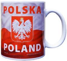 Ceramiczny Kubek Polska Z Godłem Flagą Polski
