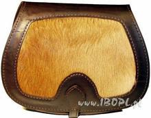 ZUBÍČEK Myśliwska torba ze skóry wołowej z sierścią sarny mała ZU-B13