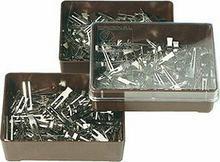 Efalock klipsy w pudełku, metalowe, 100szt