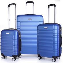 Sumatra Komplet walizek na 4 kółkach Olivier Expanded 1131ABC niebieski