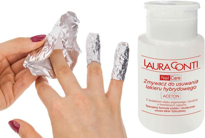 Laura Conti zmywacz do usuwania lakieru hybrydowego 150ml,K