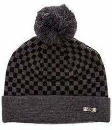 Vans czapka zimowa męska CHECKERBOARD POM Heather Black