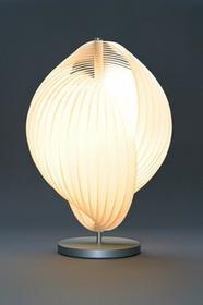 Tecnolumen Escargot2 Lampa stołowa Nikiel matowy, 1-punktowy - Design - Obszar wewnętrzny - Escargot2 - Czas dostawy: od 8-12 dni roboczych THL 02