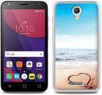 Alcatel Foto Case - Pixi 4 (5) 3G (5010) - etui na telefon Foto Case - serce na piasku (ETAL404FOTOFT080000)