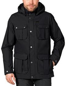 Jack Wolfskin męska kurtka chroniąca przed wpływem warunków pogodowych Living Stone JKT M, czarny, L 1107501-6000004_6000_L