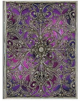 Paperblanks kalendarz 2016 Ultra Silver Filigree Collection Aubergine tygodniowy