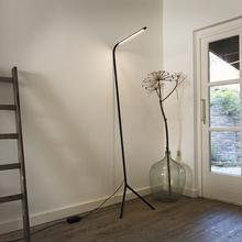 QAZQA Lampa podlogowa Lazy Lamp Czarna