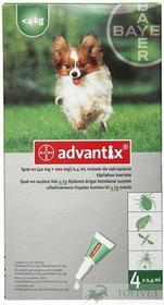 Bayer ADVANTIX Spot-On S Pies do 4kg 1szt. *TYLKO ODBIÓR WŁASNY*