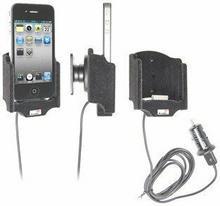 Brodit AB Uchwyt aktywny z kablem USB do Apple iPhone 4 & Apple iPhone 4S 521164