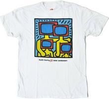 Alien Workshop koszulka - Haring Tv Family Strtus Wht (BILA) rozmiar: L