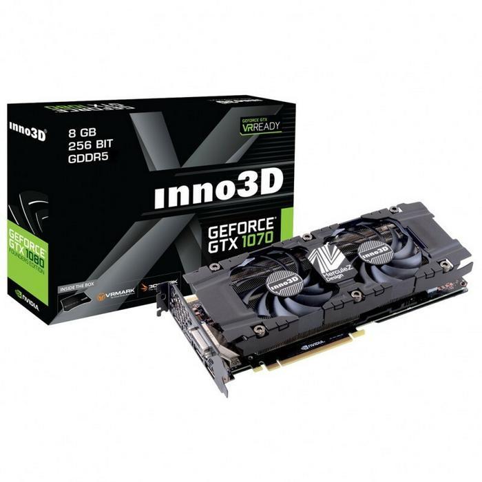Inno3D GeForce GTX 1070 Twin X2 VR Ready (N1070-1SDN-P5DN)