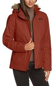 Jack Wolfskin damska kurtka z kapturem watowana Nova scotia, brązowy, L