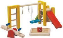 Plan Toys Drewniane mebelki dla lalek Plac zabaw - mebelki do domku dla lalek, 8