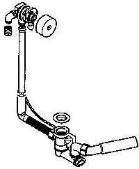 Geberit 150.700.00.1  DELTA syfon wannowy z napełnianiem przez przelew do baterii podtynkowej