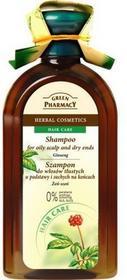 Green Pharmacy Szampon Żeń-szeń - do włosów tłustych u podstawy i suchych na k