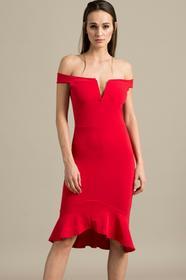 Missguided Sukienka DE910289 czerwony