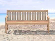 Beliani Drewniana lawka ogrodowa 180 cm JAVA brazowy