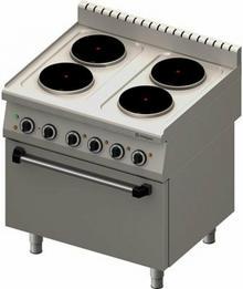 Stalgast Kuchnia elektryczna 4 płyty z piekarnikiem 600x400 / GN 1/1 971500