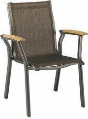 Krzesło srebrno-grafitowe Aluminium/tkanina odporna 100102-0000