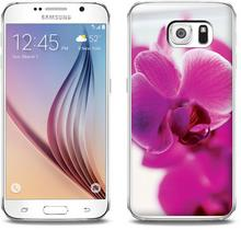 Etuo.pl Foto Case - Samsung Galaxy S6 - etui na telefon Foto Case - fioletowa orchidea ETSM172FOTOFT044000