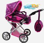 Super-Toys Wózek 4 funkcyjny z torbą i pościelą 9346