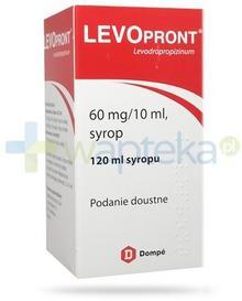DOMPE BIOTEC S.P.A. Levopront syrop 60mg/10ml na kaszel 120 ml 4850612