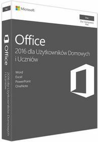 Microsoft Office 2016 dla Użytkowników Domowych i Uczniów Mac PL GZA-00991