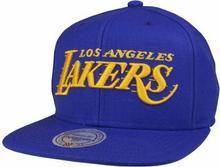Mitchell & Ness LA LAKERS WOOL SOLID NBA SNAPBACK PURPLE (LAKERS)