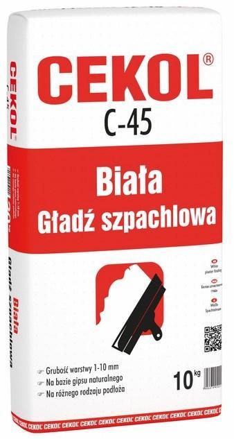 Cekol Biała masa szpachlowa C-45 10 kg