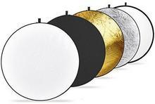 Neewer tarcze do reflektorów multi disc, 43cale/110 cm, 5 w 1, z torbą, przezroczysta, srebrna, złota, biała i czarna 10000076