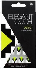 Elegant Touch UV Gel Technology Nails - tipsy paznokcie zdobione z taśmą samo