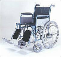 WZSO Wózek inwalidzki z napędem ręcznym składany kierowany jedną ręką typu: 5066