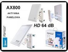 Opticum antena zewnętrzna AKTYWNA DVB-T AX 800 64 dB PANEL
