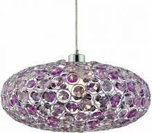 Candellux Zwis kryształowa LAMPA wisząca OPRAWA nowoczesna CRISTY 31-92635 chrom Fioletowy