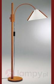 Domus Arcade - elegancka lampa stojąca z drewna