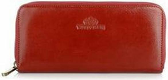 Wittchen Portfel skórzany Italy 21-1-393 czerwony