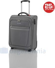 Travelite Mała kabinowa walizka CABIN 90237 Szara - szary