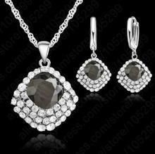 Durango Komplet z kolczykami , kryształ czarny 5012