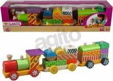 Eichhorn Simba Kolorowy drewniany pociąg 2223
