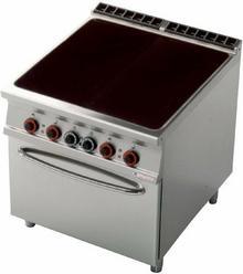 RM Gastro Kuchnia elektryczna ceramiczna z piekarnikiem GN 2/1 CFC4 - 98 ET