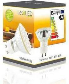 Whitenergy żarówka LED GU10 38 LED 2W 230V barwa ciepła biała 07297