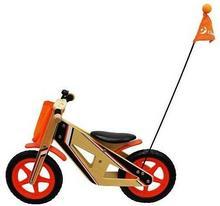 ClassicWorld Drewniany rowerek biegowy z flagą CL2377