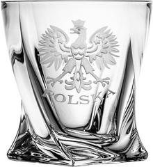 Crystal Julia Szklanki do whisky grawer Orzeł Polska 6 sztuk 5187)