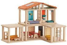 Plan Toys Drewniany, kreatywny DOMEK dla lalek z mebelkami - 8854740076106