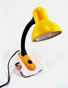 Quant Lampka biurkowa Theta przypinana Żółty E27 40W