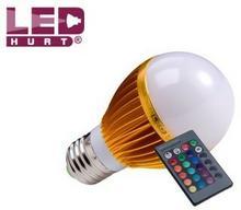 S-LED E27 5W RGB + pilot IR 1057